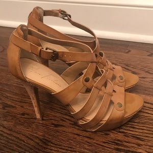 Marc Fisher Sandal in tan color